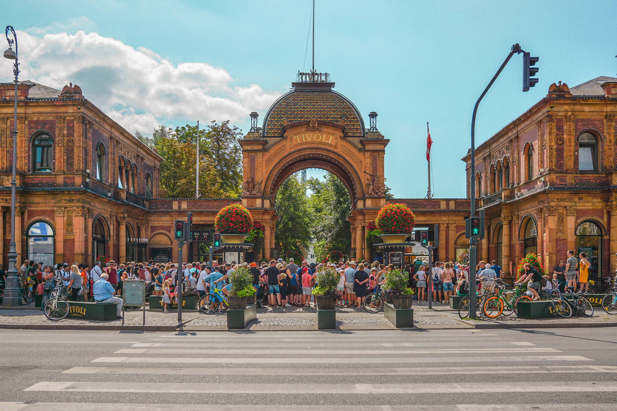 The entrance of Tivoli when it first opens.
