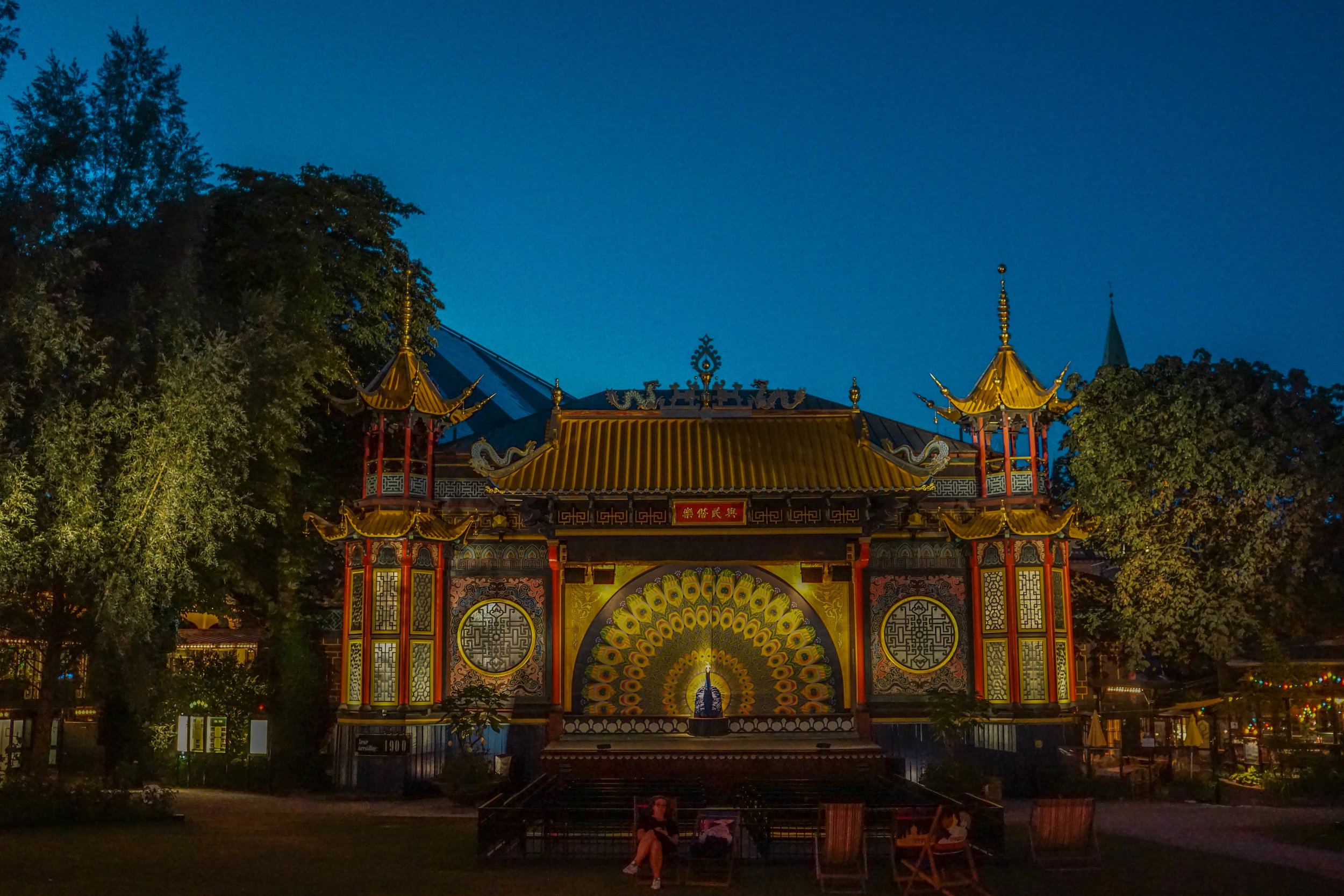 The Pantomime Peacock theater at Tivoli Gardens is the park's oldest building.