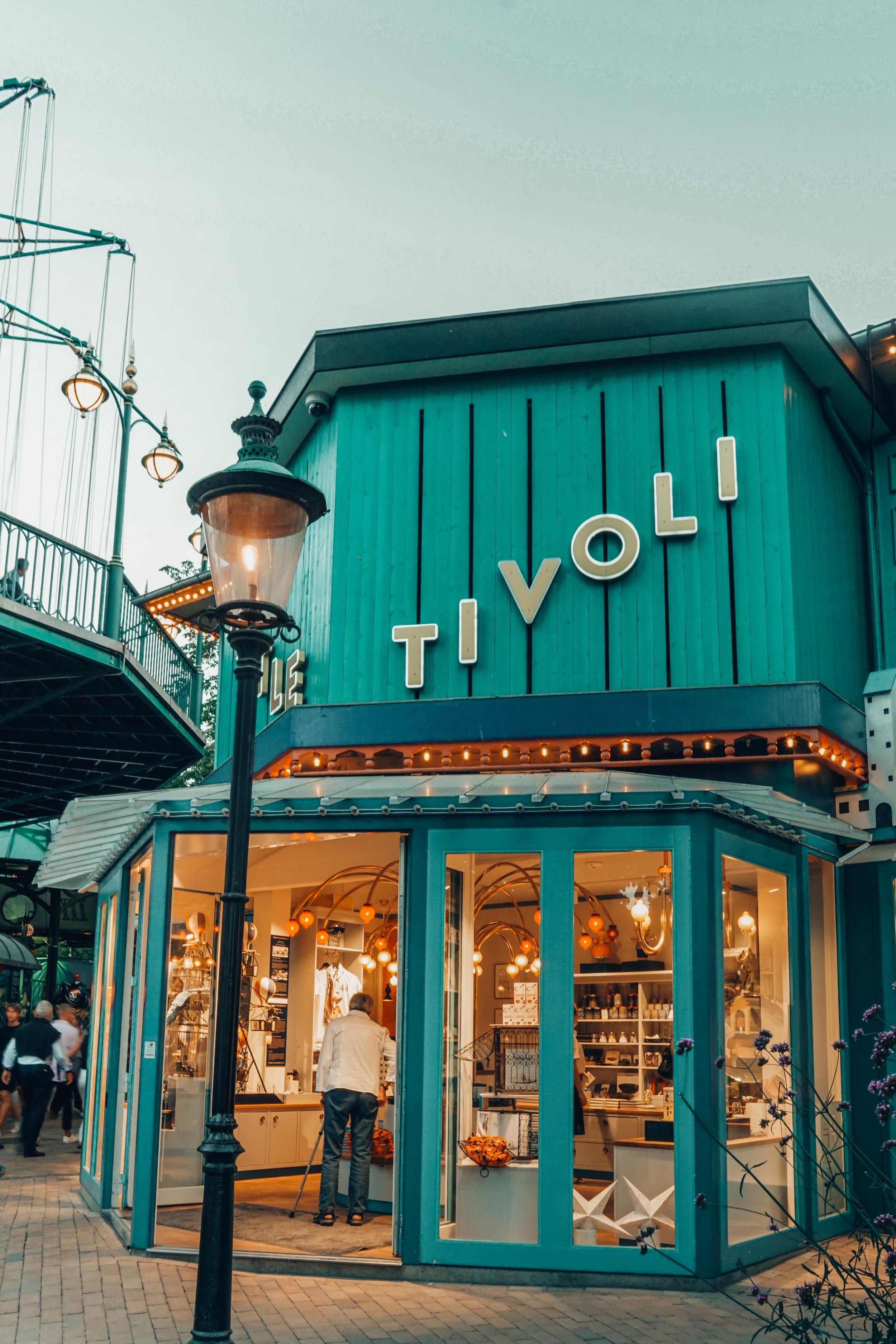 A store at Tivoli Gardens.