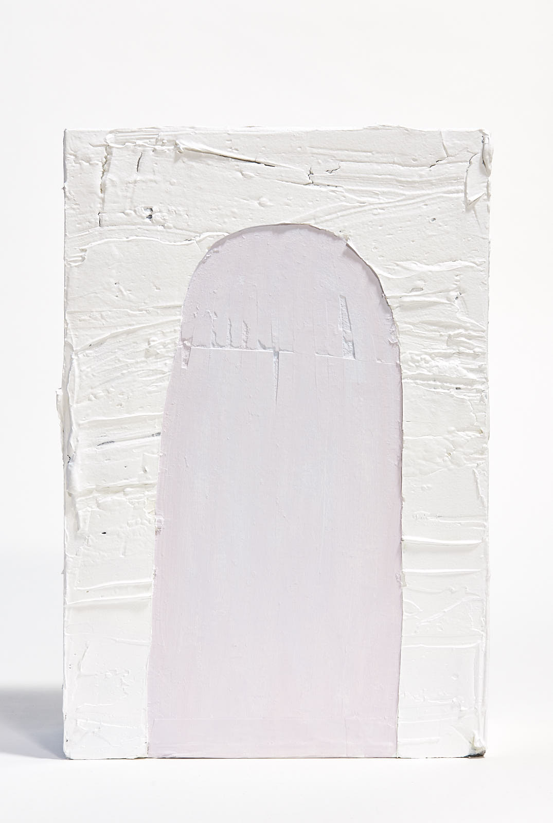 "Monoliths   , 2018, 18""x24""x6"", mixed-media, plaster, bone meal, acrylic, alkyd, wallboard (unavailable)"