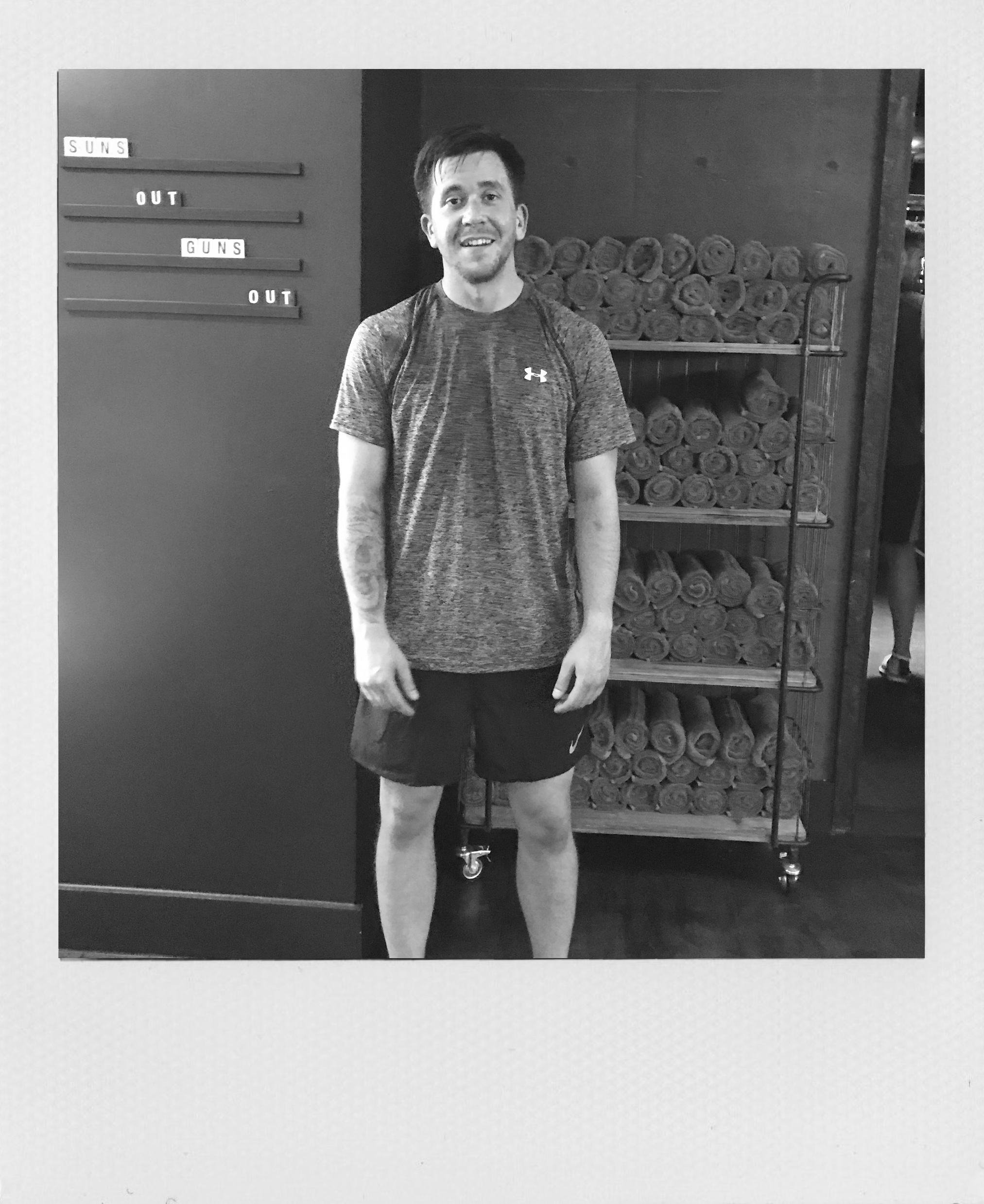 SQUAD SPOTLIGHT: TERRY - Meet Terry, one of the first dozen to hit the 25-Squad. YOU WILL FIND TERRY QUIETLY GRINDING AWAY ON SPOT 9 AT lunchtimeS AS HE TRAINS for a half marathon in October.
