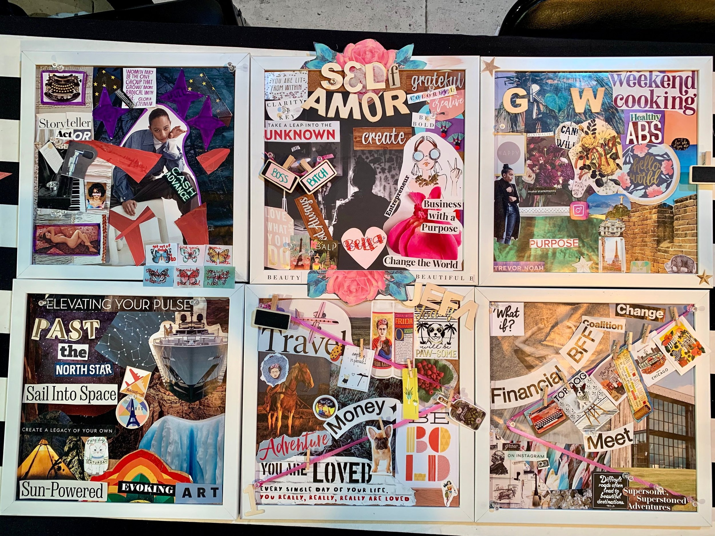 Some of the ther workshop attendees beautiful Vision Boards