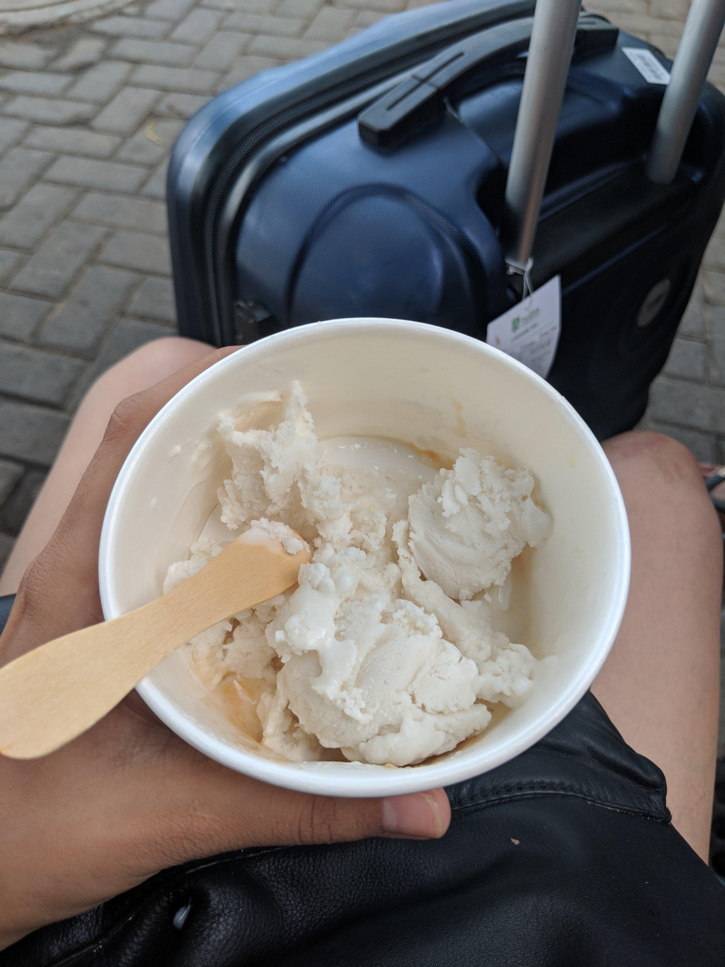 Tender Coconut Ice-cream - creamy and delicious Ice Cream from GoPut Sanur Beach