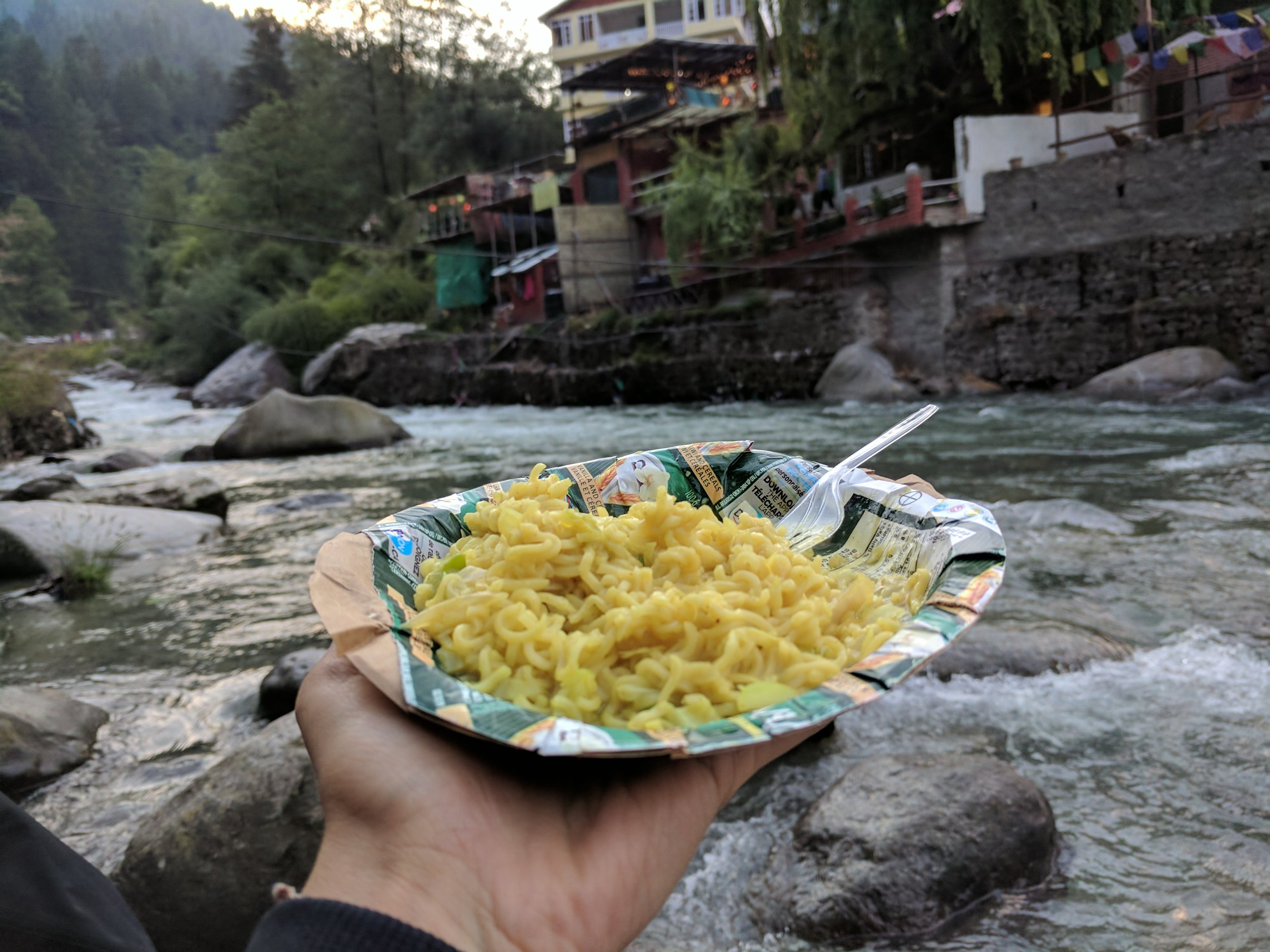 Maggi by the river!