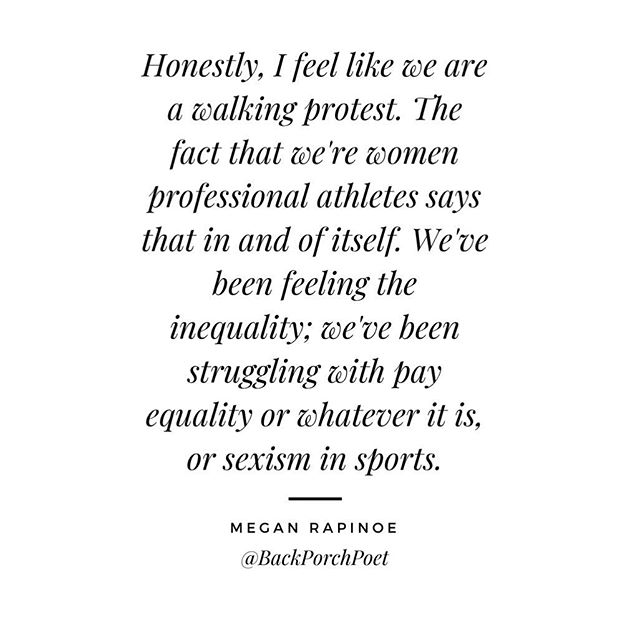 Honestly, I feel like we are a walking protest. The fact that we're women professional athletes says that in and of itself. - @mrapinoe ⚽️ 🌺 🌺 🌺 I have heard it said time and time again, that as a woman you must be twice as good and work twice as hard to get half as far. I have heard it said double for men and women of color. It makes me both happy and sad that I didn't feel this truth until my early adult-hood. Now that I see it, it can't be unseen. Now that I feel it, it can't be unfelt. I'm ashamed that I allowed #internalizedmisogyny and #racism to color my viewpoint. My place of privilege as a white woman continues to color my viewpoints. I will spend my life trying to learn what so many people know and use my place of privilege to uplift others. To my ladies in protest, who's existence in and of itself is a stance against close-mindedness and obscurity - I'm sorry. I'm sorry that it's come to this, but I see you. You matter. ⚽️ 🌺 🌺 🌺 I posed a question in my insta-stories: would you like to hear my story of growth from depressed internalized misogynist to #feminist and #girlgang warrior? Let me know in the comments below and I'll let you in on some ways you can make a difference in spite of where you are, who you are, and what your personal situation looks like. 👇⚽️ 🌺 🌺 🌺 #makeupandmindset #artistsofinsta #femaleartist #womenssoccer #feministquotes #girlgang #girlceo #intersectionalfeminism #bossbabe #bosslady #makeupart #manifestationbabe #manifestation #lawofattraction #mindset #mindsetquotes #personaldevelopment #womeninspiringwomen #womeninpower #glam #glammakeup #girlboss #badfeminist #mua #mue