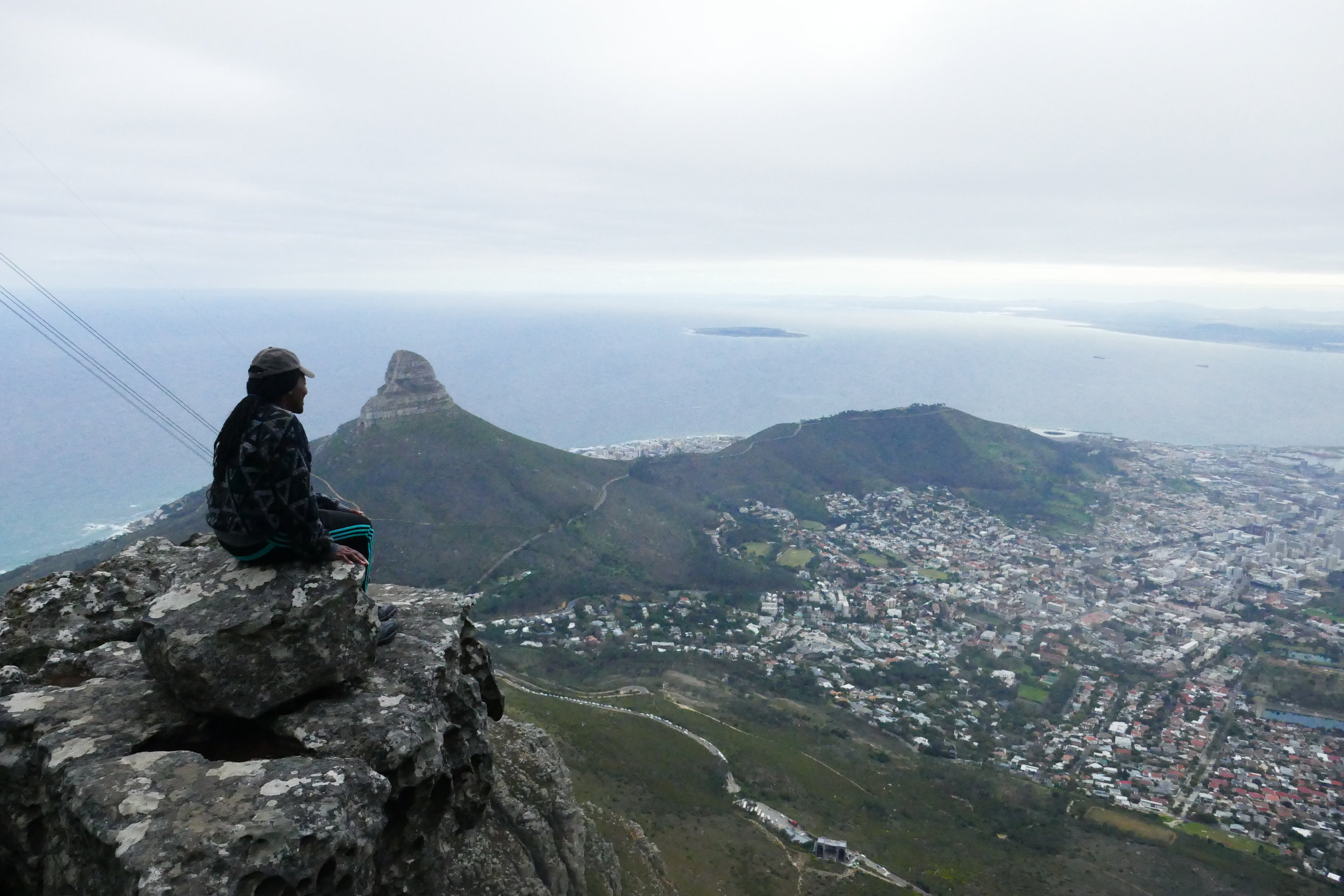 taking a moment on Table Mountain