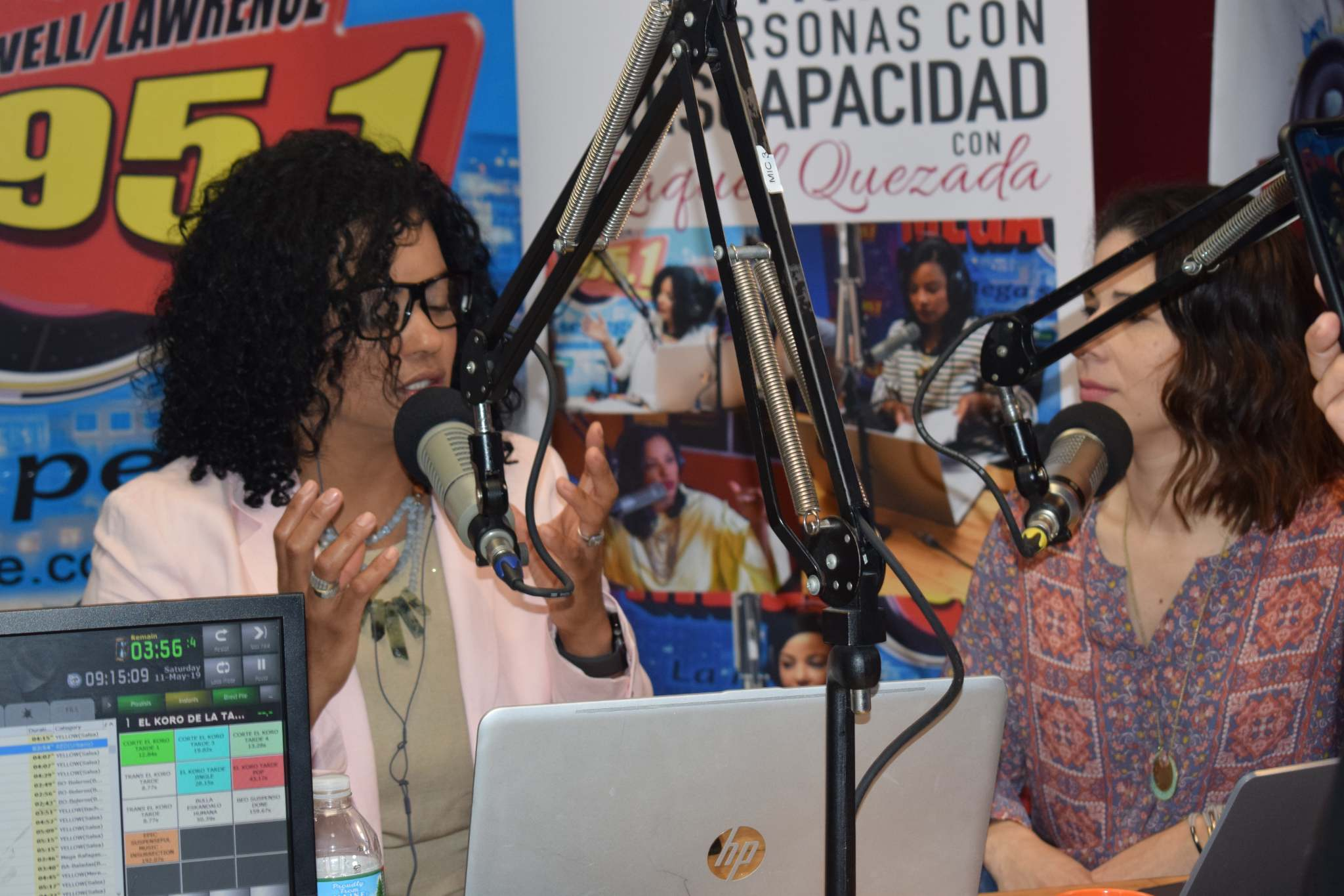 With Raquel Quezada host of Cambiando el Mundo de Personas con Discapacidades Radio Show (LA MEGA, 95.1FM and 1400AM).