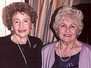 """The late Helen P O'Leary (left) DMD provided the seed money to establish The Demetra Fund in loving memory of her sister Demetra """"Toulie"""" Samellas (right)."""