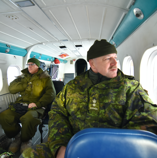 RSM (left) and CO (right) on flight.  Photo taken by Cpl Miguel Moldez.