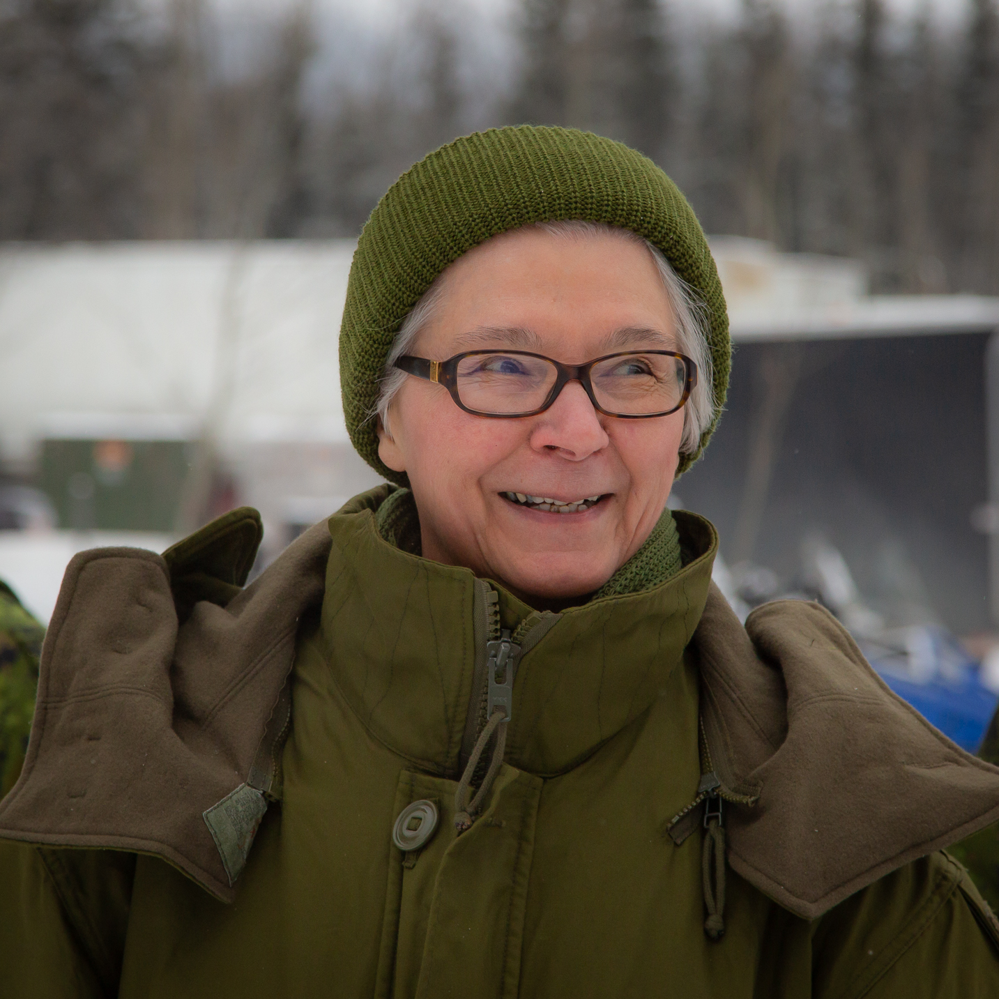 Honorary Colonel at Exercise Arctic Bison 19.  Photo taken by Sgt Mark Cortens.