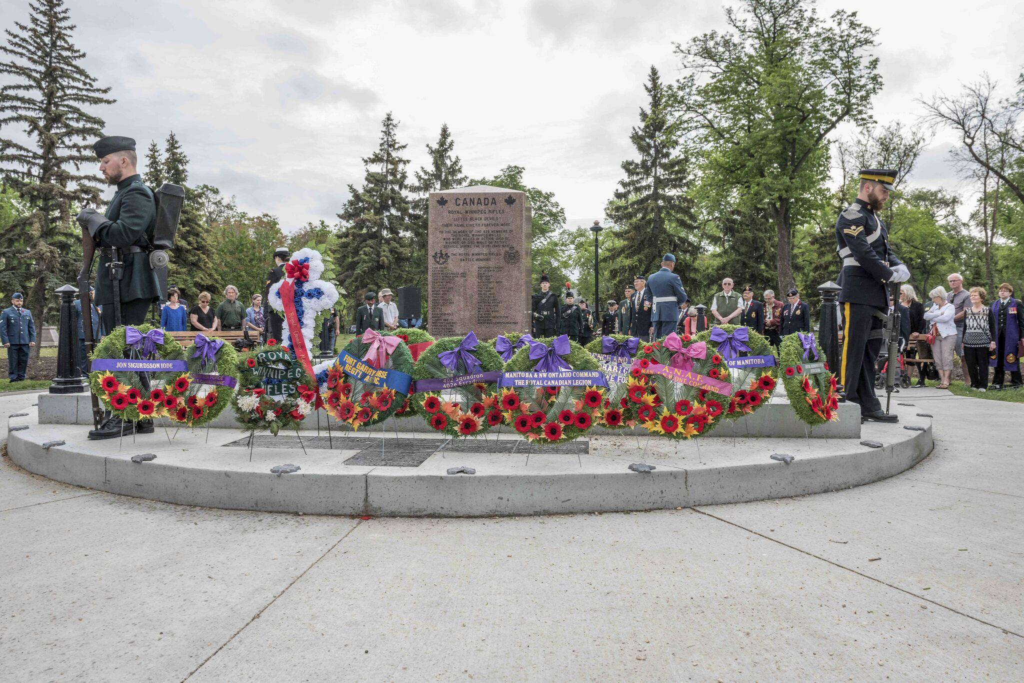 The Royal Winnipeg Rifles' Regimental Monument at Vimy Ridge Memorial Park in Winnipeg
