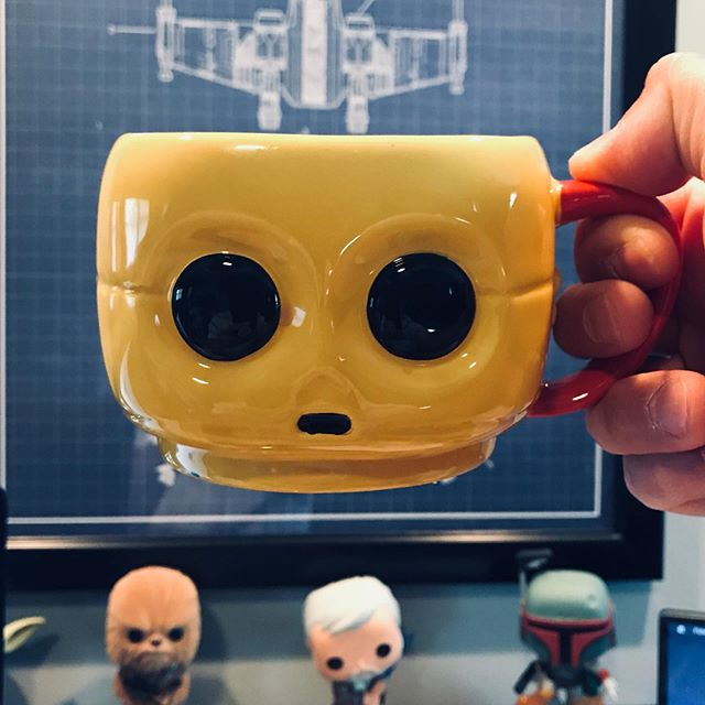 Good Morning! Fuel to start the day at Social Vid Network Studios in Downtown Plainfield, IL.  #videomarketing #socialvidnetwork #goodmorning #starwars #c3po #coffee