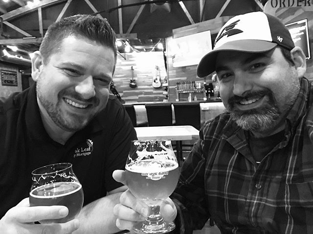 Having a beer and talking shop about life and video marketing @garagebandbrewing @mortgagemessage