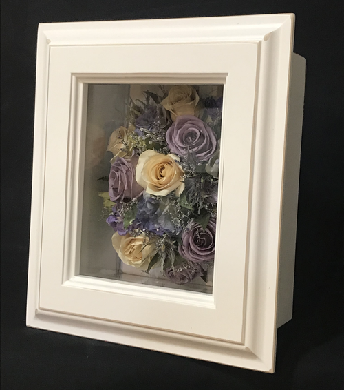 Shadow Box #6 - Small, Rustic White (Right View)