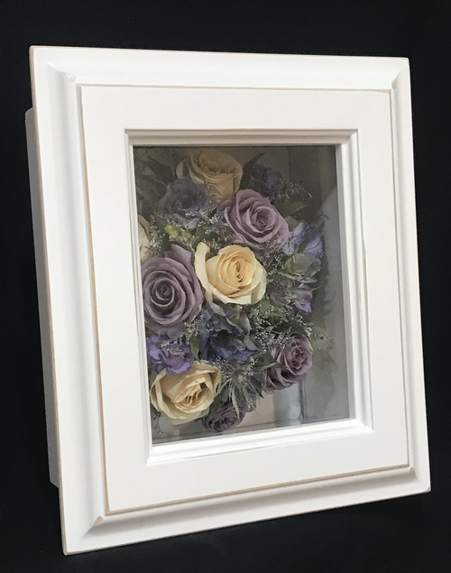 Shadow Box #6 - Small, Rustic White (Left View)