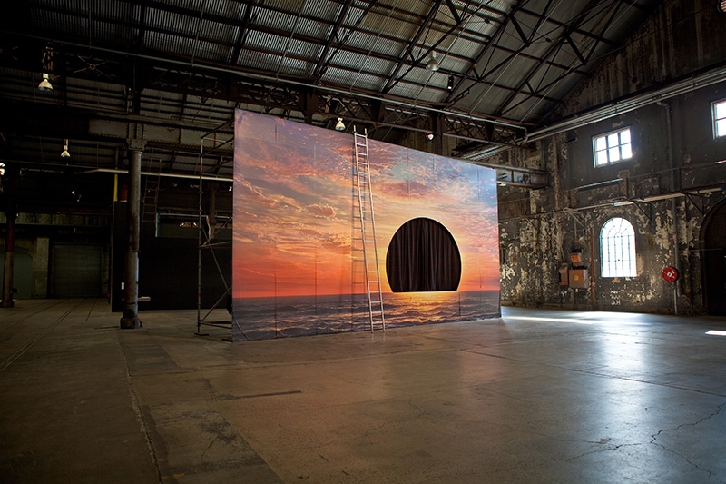The Sun's Rehearsal  (Installation view at Carriageworks for the 20th Biennale of Sydney), 2016 (Photo: Neha Choksi)