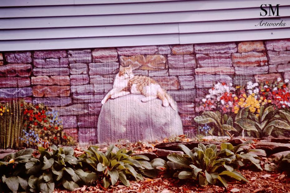 """""""Elyse's Cat"""" (Mural) -"""