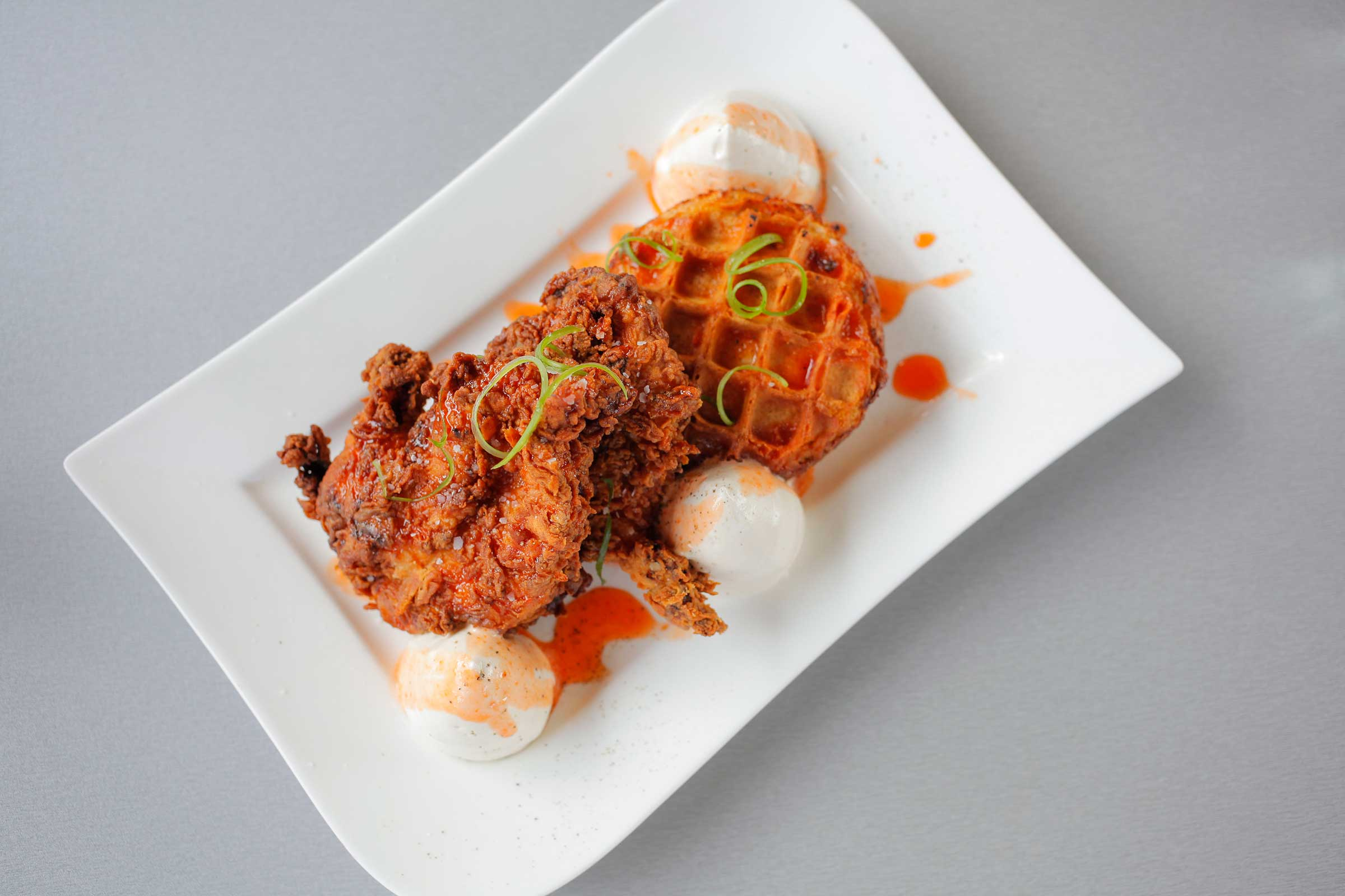 MoxieChicken+Waffles_friedchicken_wafflepudding_maplemousse_pepperjelly.jpg