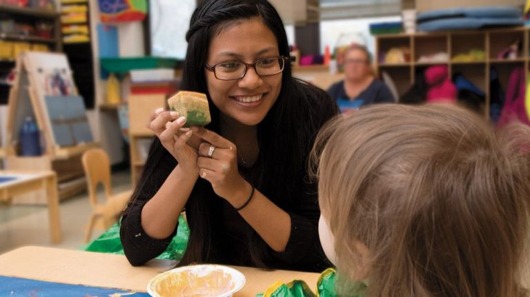 CUNY students with young children will get extra child care assistance this year thanks to a $600,000 investment by the City Council for the CUNY Childcare Initiative. (Photo: Kingsborough Community College
