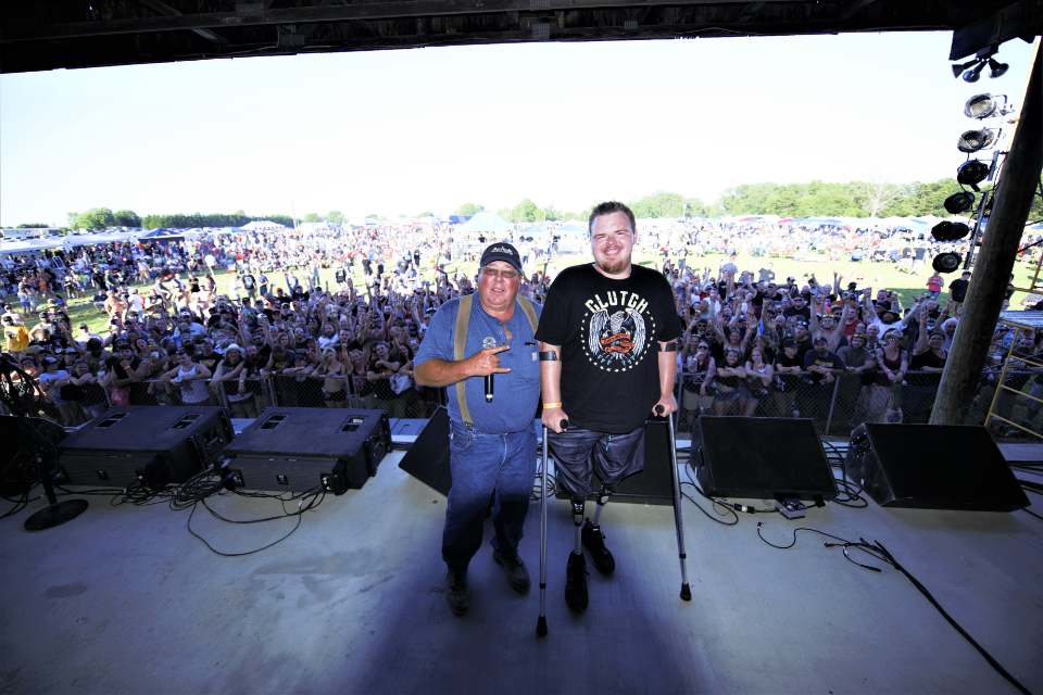 Mr. Greg Shiley and Hunter onstage right before Clutch!