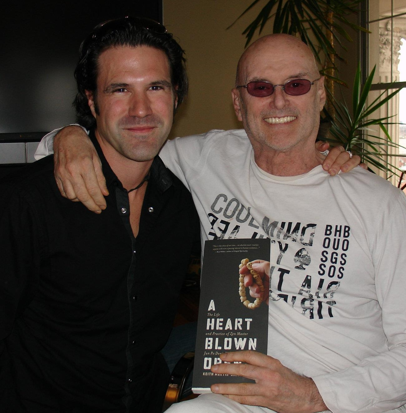 Keith and Ken Wilber, who endorsed  A Heart Blown Open.