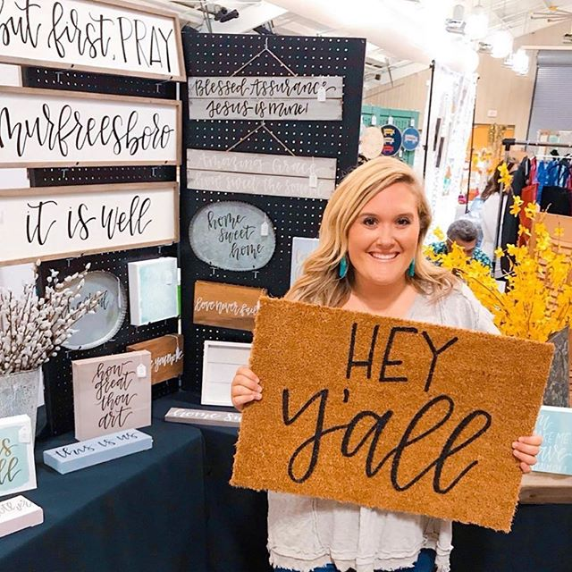 @whitleywrites looked great with all of her hand scripted pieces!  See you next year @scoutsmarketplacetn !