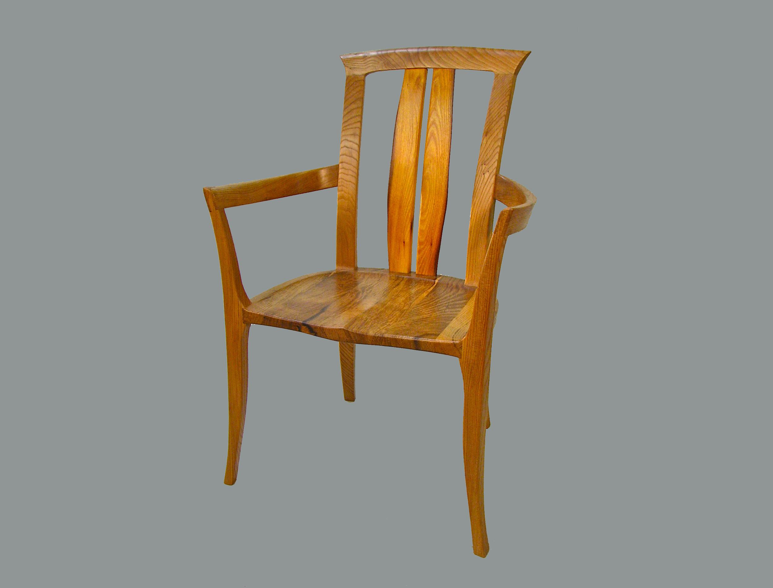 Orange Barrel Chair