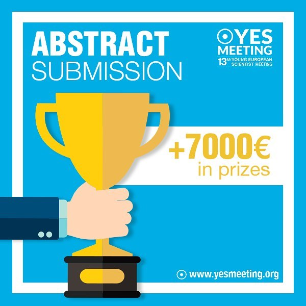 Original and groundbreaking scientific research should always be rewarded and congratulated. Go to www.yesmeeting.org and find out more! Submit your abstract until June 6th!