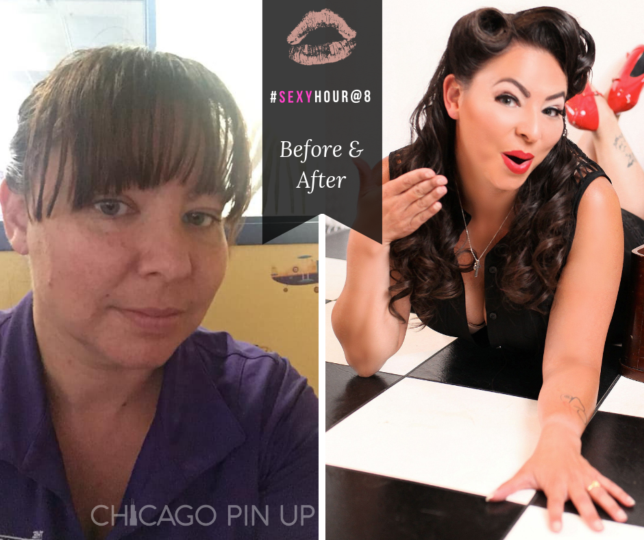 Chicago-Pinup-Boudoir-Photographer-No-Regrets-Checkered-Before-and-After