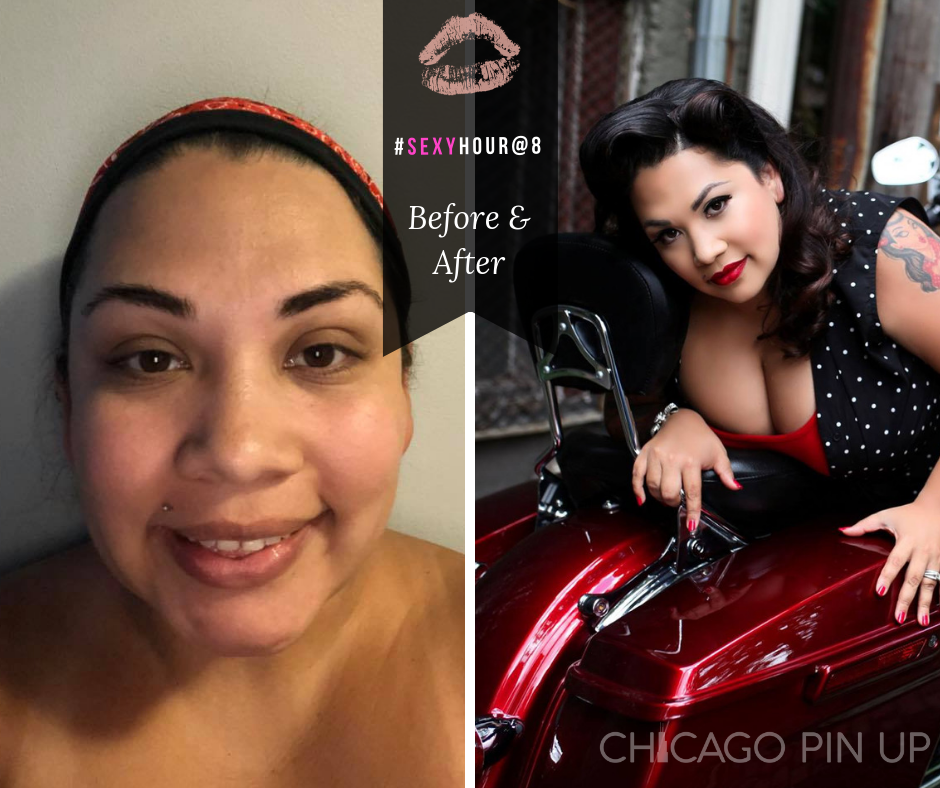 Chicago-Pinup-Boudoir-Photographer-No-Regrets-Motorcycle-Before-and-After