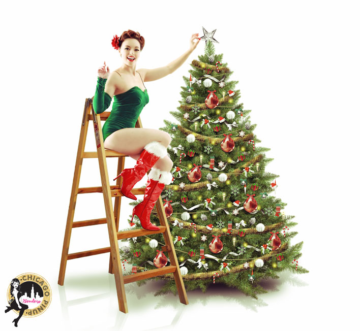 A pinup gal knows how celebrate the holidays