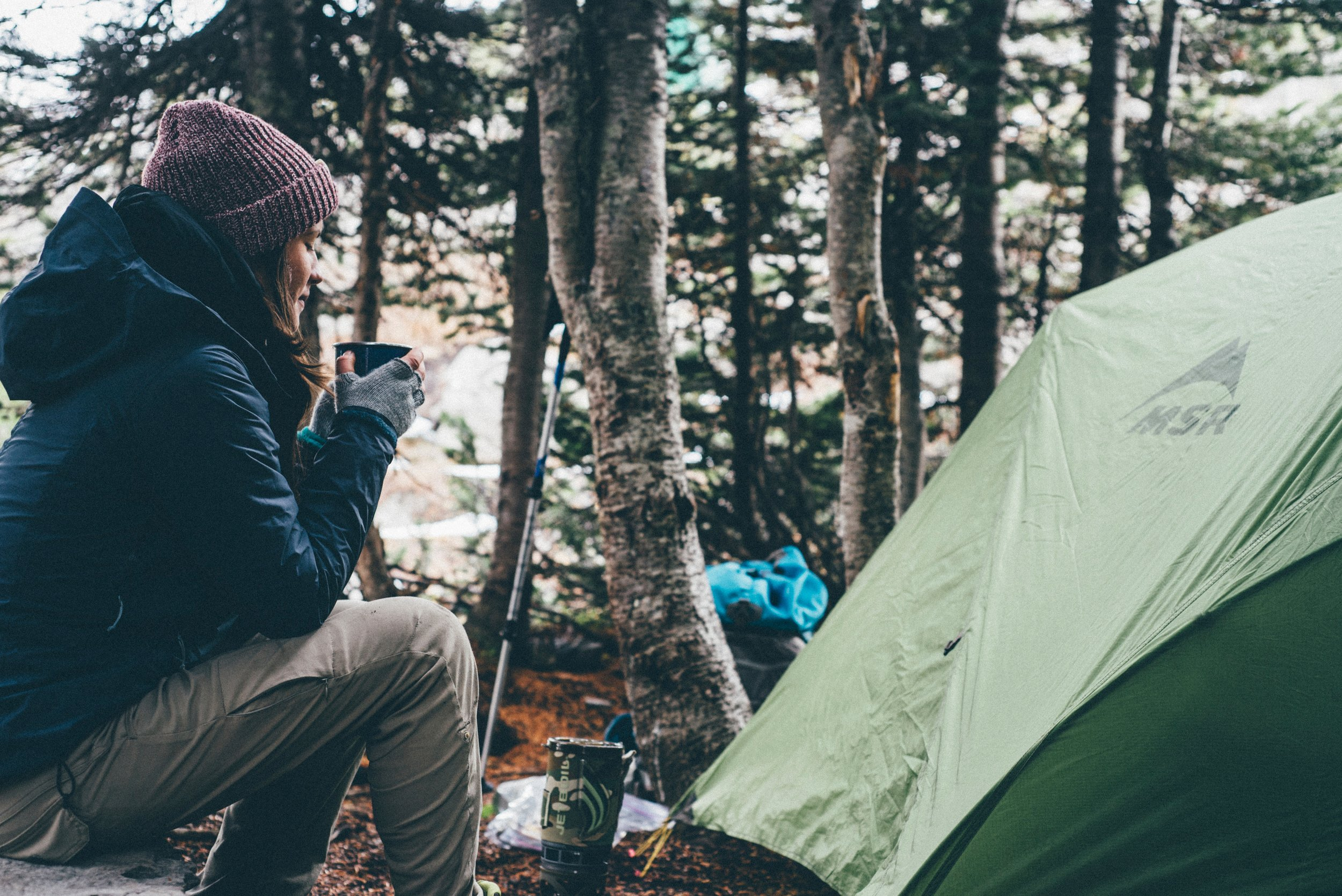 Zelten in den Bergen
