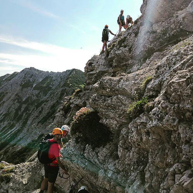 Salewa Klettersteig Oberjoch . . #kletterwochenende #klettersteig #salewa #salewaklettersteig #oberjoch #klettern #kletterausrüstung #klettersteigen #wanderlust #outdoor #bergwelten #berge #dreitageweg #mikroabenteuer