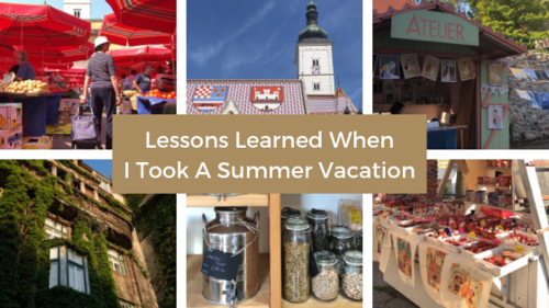 Browsing through craft markets, farmers' markets, art stores, and exploring Zagreb, Croatia this summer.