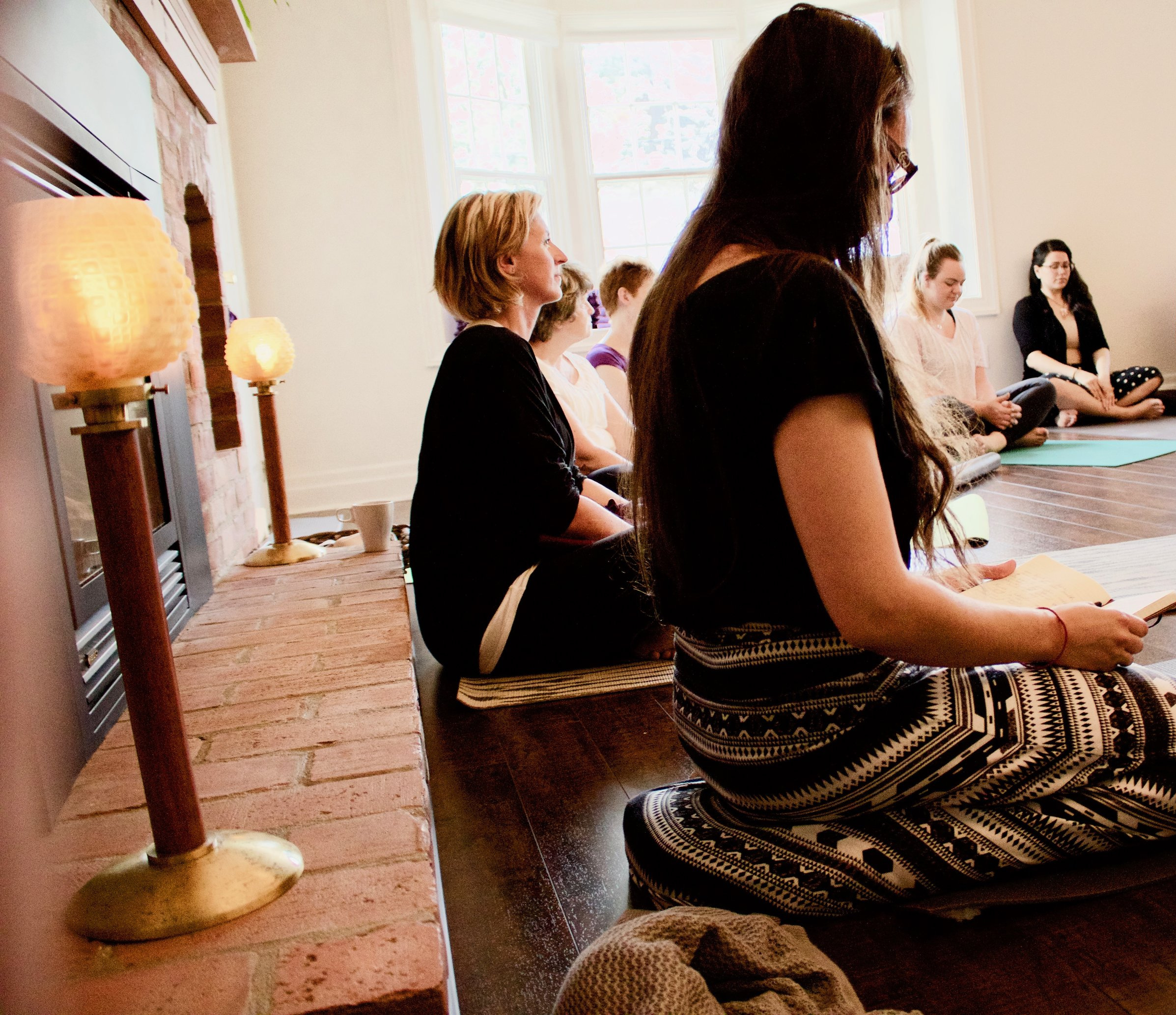 JULY FULL MOON GRATITUDE GATHERING AT INTENTIONS   we welcomed over 30 people in circle