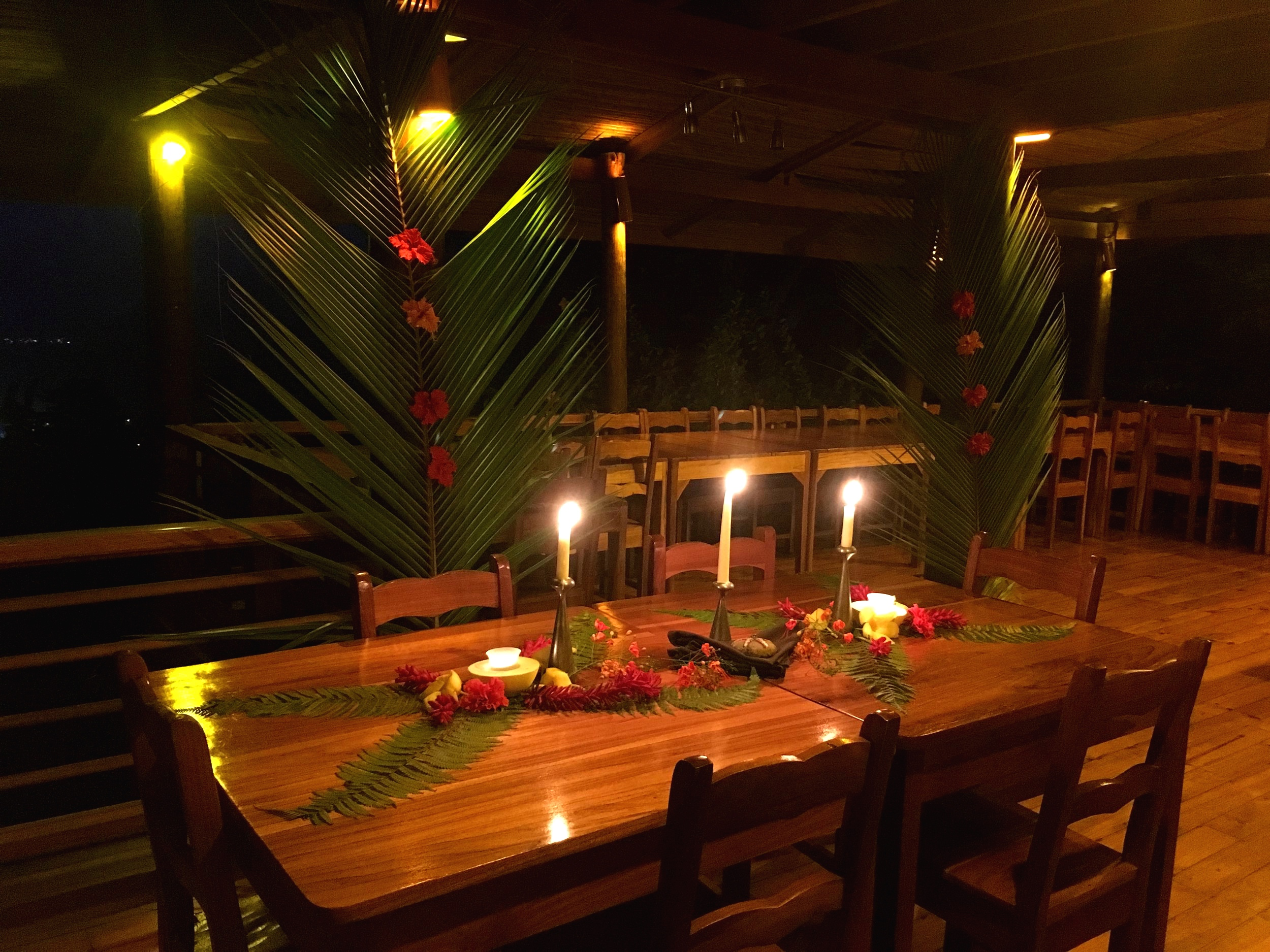 DINNER IN COSTA RICA in the OPEN AIR DINING area