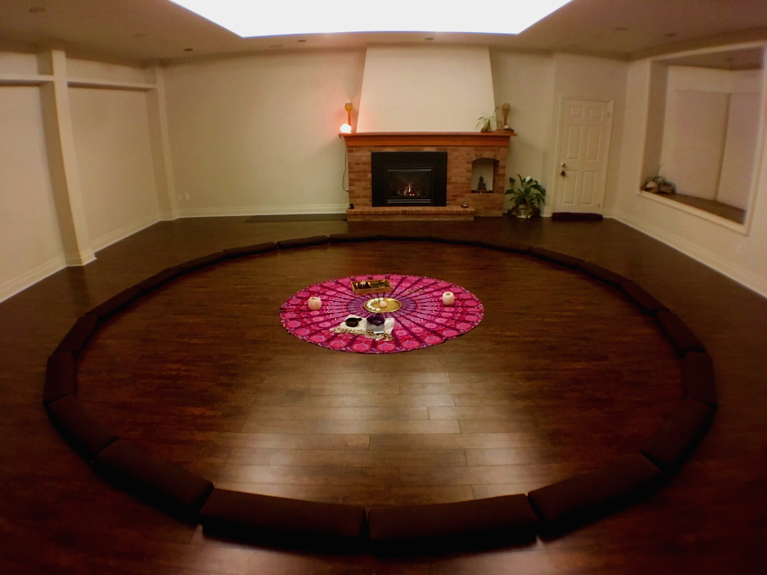 Preparing for OCTOBERS FULL MOON CIRCLE in our studio   over 20 people JOINING in circle THAT EVENING