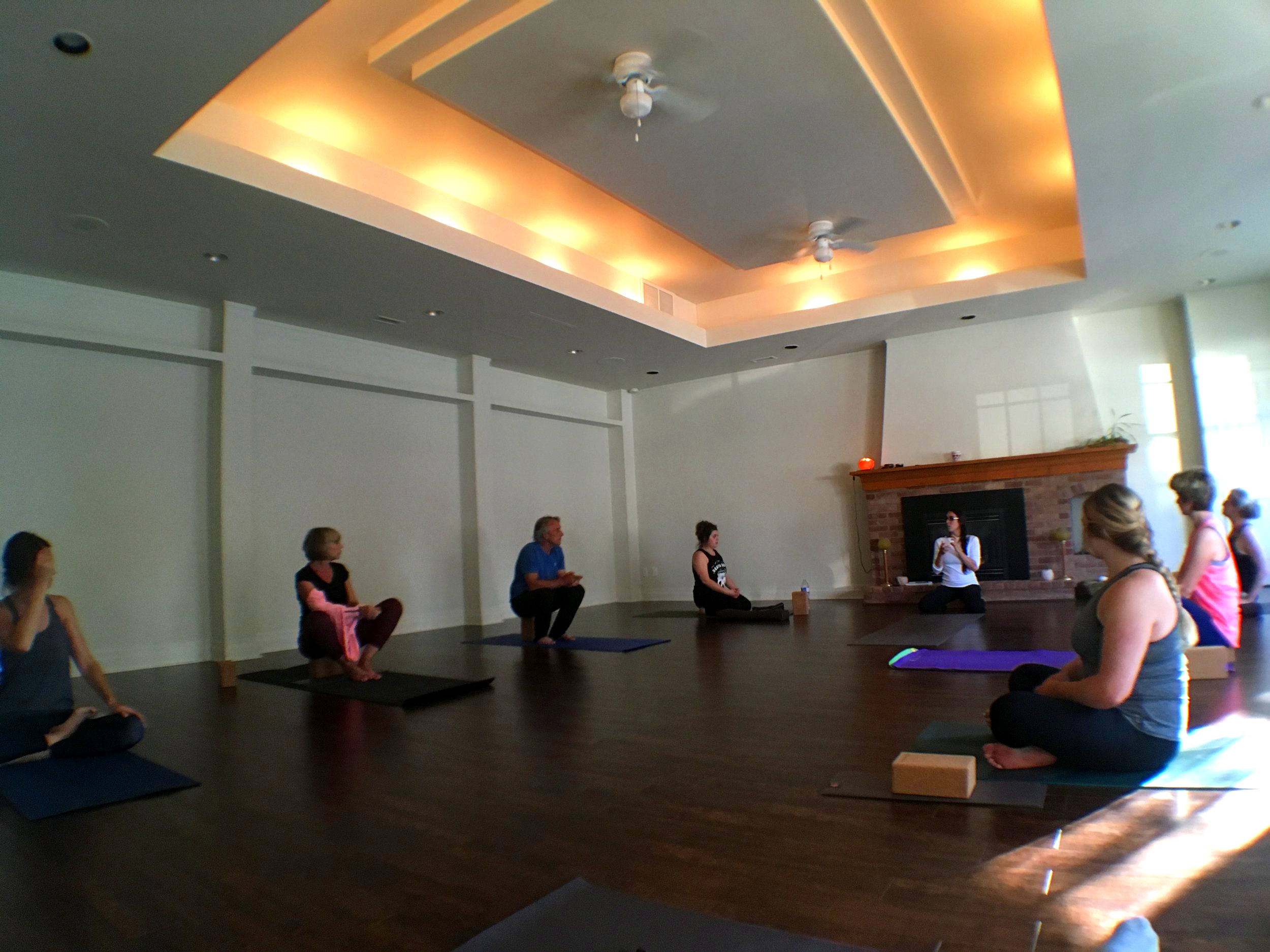 THEORY DISCUSSION IN MAIN PRACTICE ROOM HERE AT INTENTIONS DURING 'CROW FOR WEEKS' Arm balance series