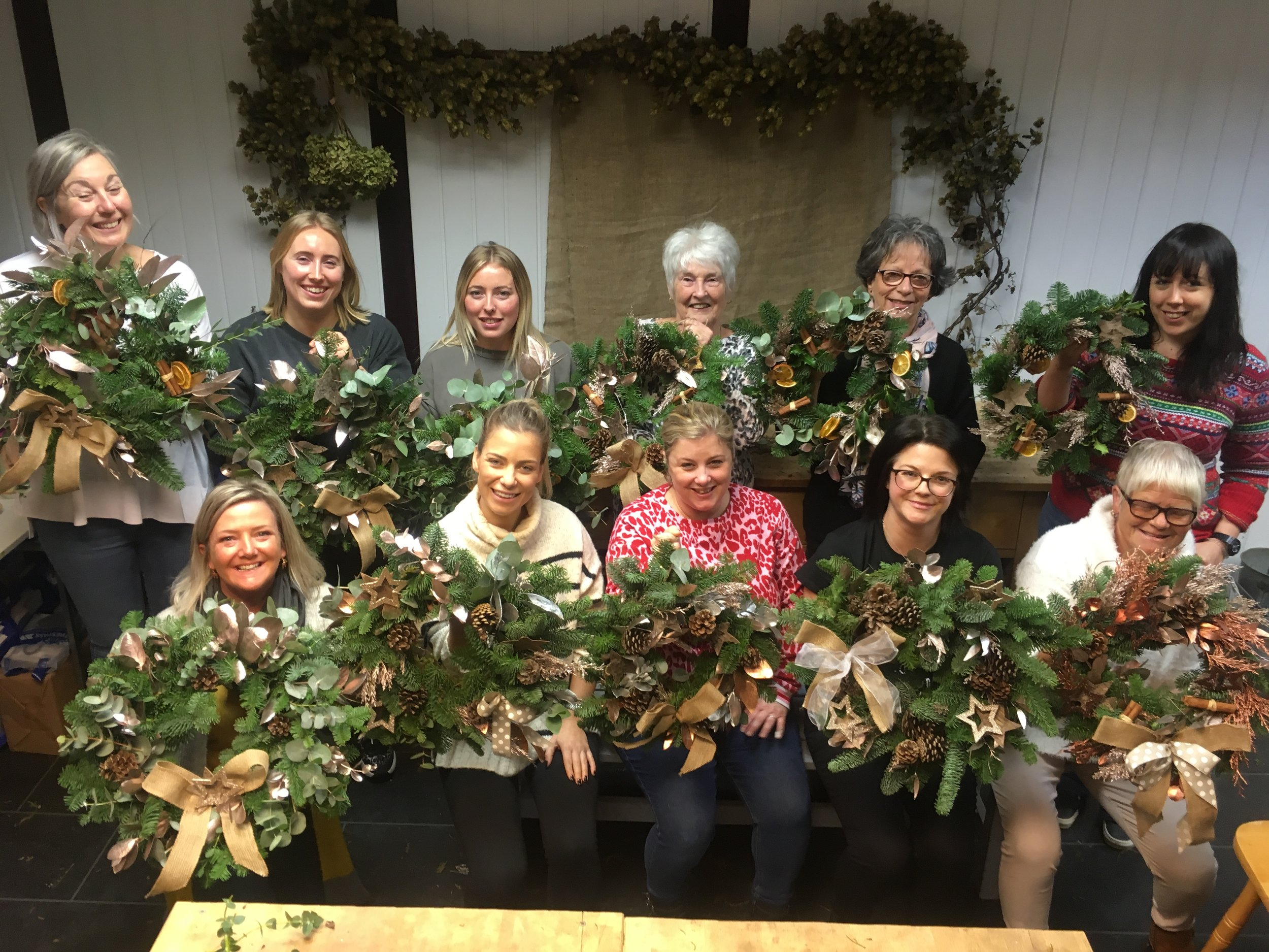 floristry workshop brighton christmas wreath workshop brighton