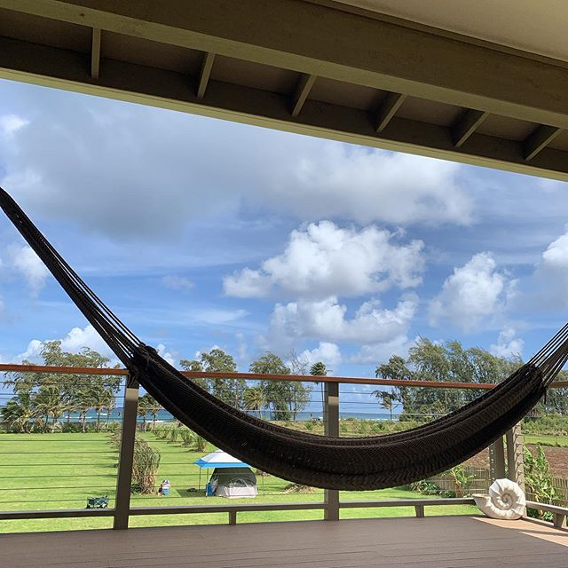 Relaxing in Hawai'i 🤙🏼. #hawaii #hammock #relaxing #vacation #laborday #beachhouse #northshore #aloha #hapatravelhawaii #oahu #beach #camping #glamping #threedayweekend