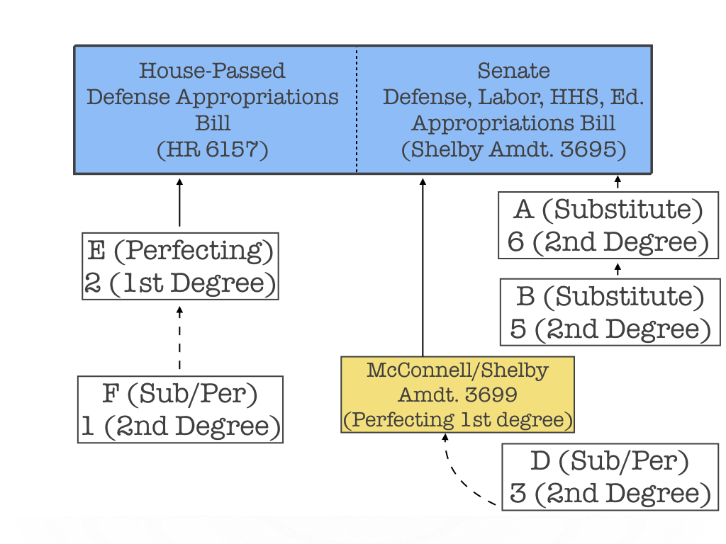 McConnell offers Amendment 3699 as a blocker amendment to better preserve order on the Senate floor.