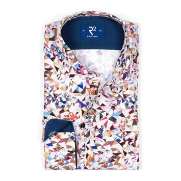 R2 Amsterdam Abstract Print Shirt  sergios.co.nz