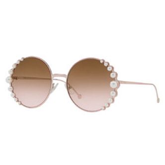 Fendi Ribbons and Pearls Round Sunglasses  sunglassstyle.co.nz