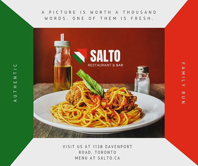 Things are simple at Salto's. You order spaghetti & meatballs, we make the spaghetti and meatballs on the spot with fresh ingredients, you enjoy an incredible meal, you discover your new favourite restaurant. Simple. 🍝🇮🇹🍴 #italian #italianfood #torontofood #foodphotography #authenticitalian #foodtoronto #spaghettiandmeatballs #delicious