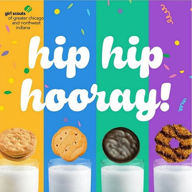 hip hip!! happy trolley night! girl scout daisies will be selling girl scout cookies at @bcollectiveshop tonight from 4-6:30 and tomorrow from 11-2! 🍪🍪