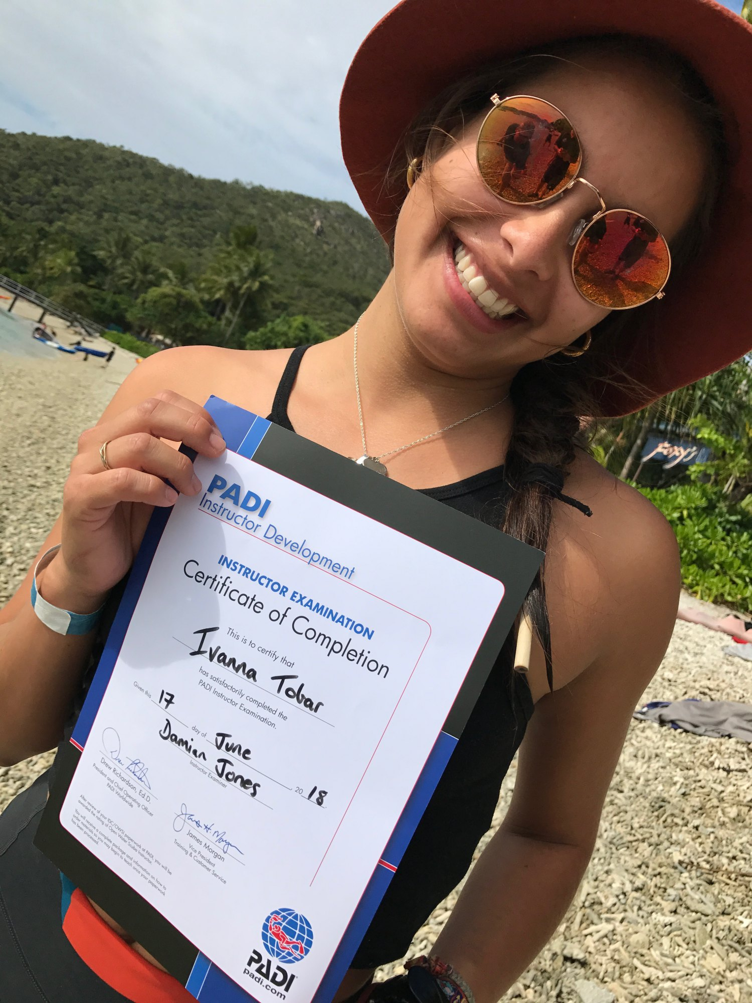 """My classroom was the Great Barrier Reef - """"A dreamlike experience.""""Originally from Colombia, I met Ivanna Tobar in January of 2018 when she came out diving with us in Port Douglas aboard AquaQuest. Ivanna went on to do her PADI rescue course as well as PADI divemaster course on the Sunshine Coast. Ivanna completed her IDC in Port Douglas in June 2018 and now works for Wavelength, a fantastic company operating from Port Douglas, Qld., Australia"""