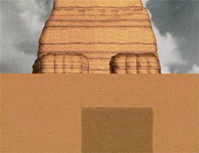 Screen capture illustration of the seismic testing conducted by Schoch's team around the Sphinx, from the documentary  The Mystery of the Sphinx .
