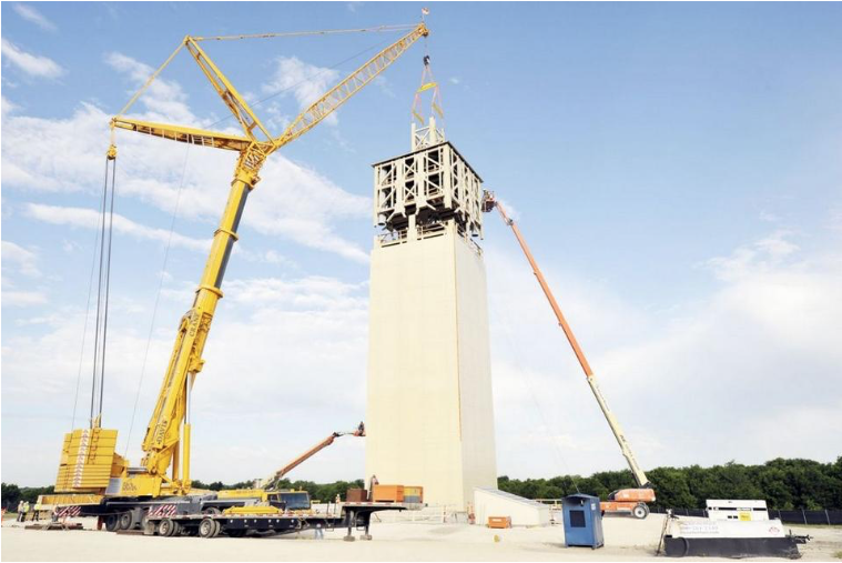 Viziv Techologies is building a tower and laboratory facilities near Milford. The tower will be used to send a signal worldwide that could eventually improve communication and positioning systems.