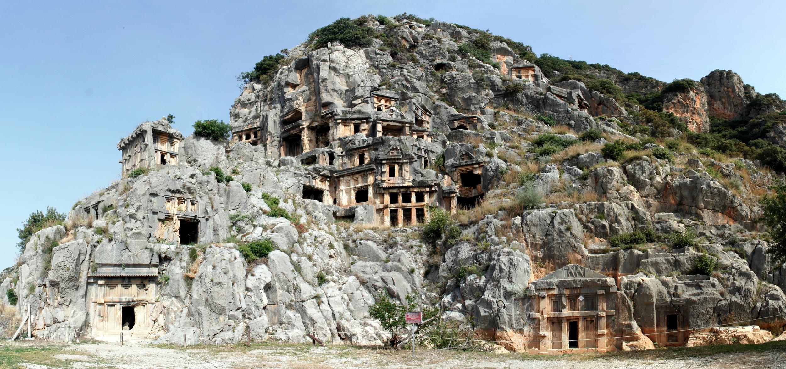 Rock-cut tombs in Myra.