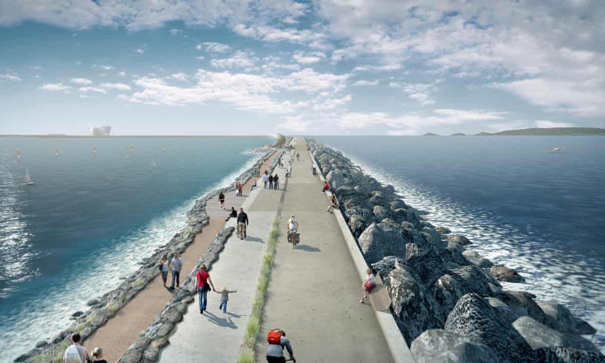 Scientist Marie Jackson has said Swansea lagoon's seawall should be built using Roman concrete. Photograph: Tidal Lagoon Power/PA